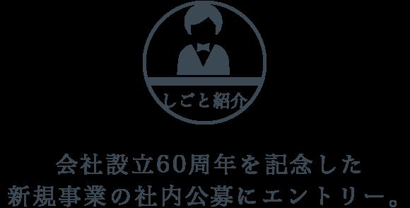 会社設立60周年を記念した新規事業の社内公募にエントリー。